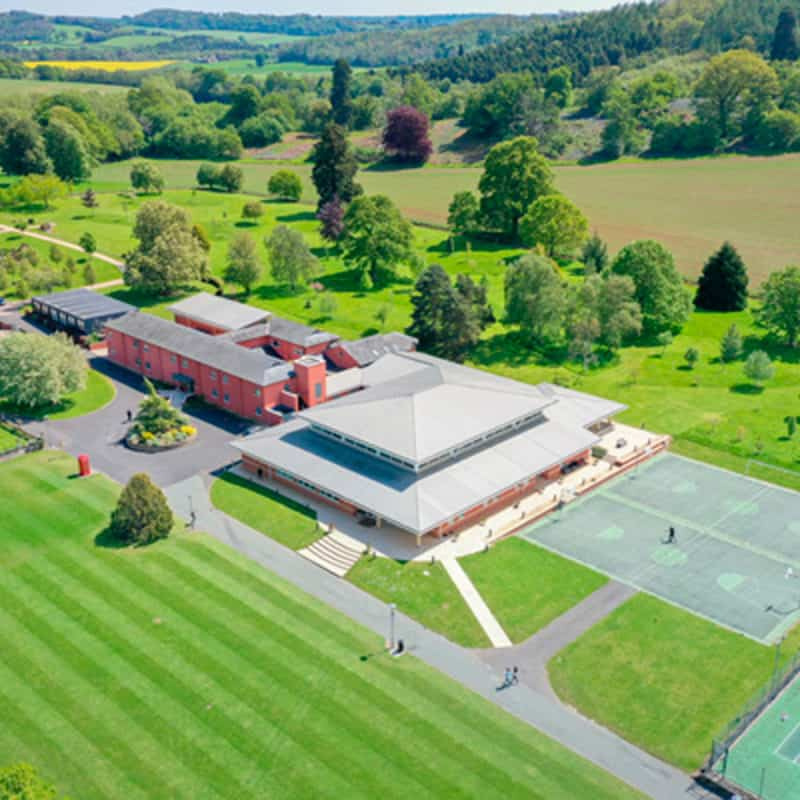 Aerial footage of Concord College