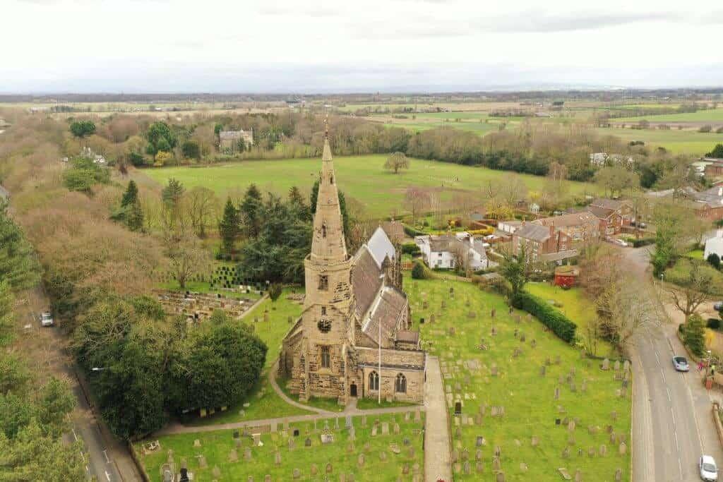 Aerial Survey for church spire