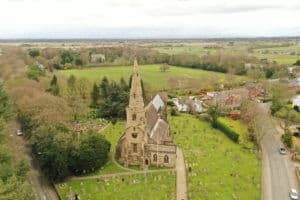 Aerial Survey for church spire