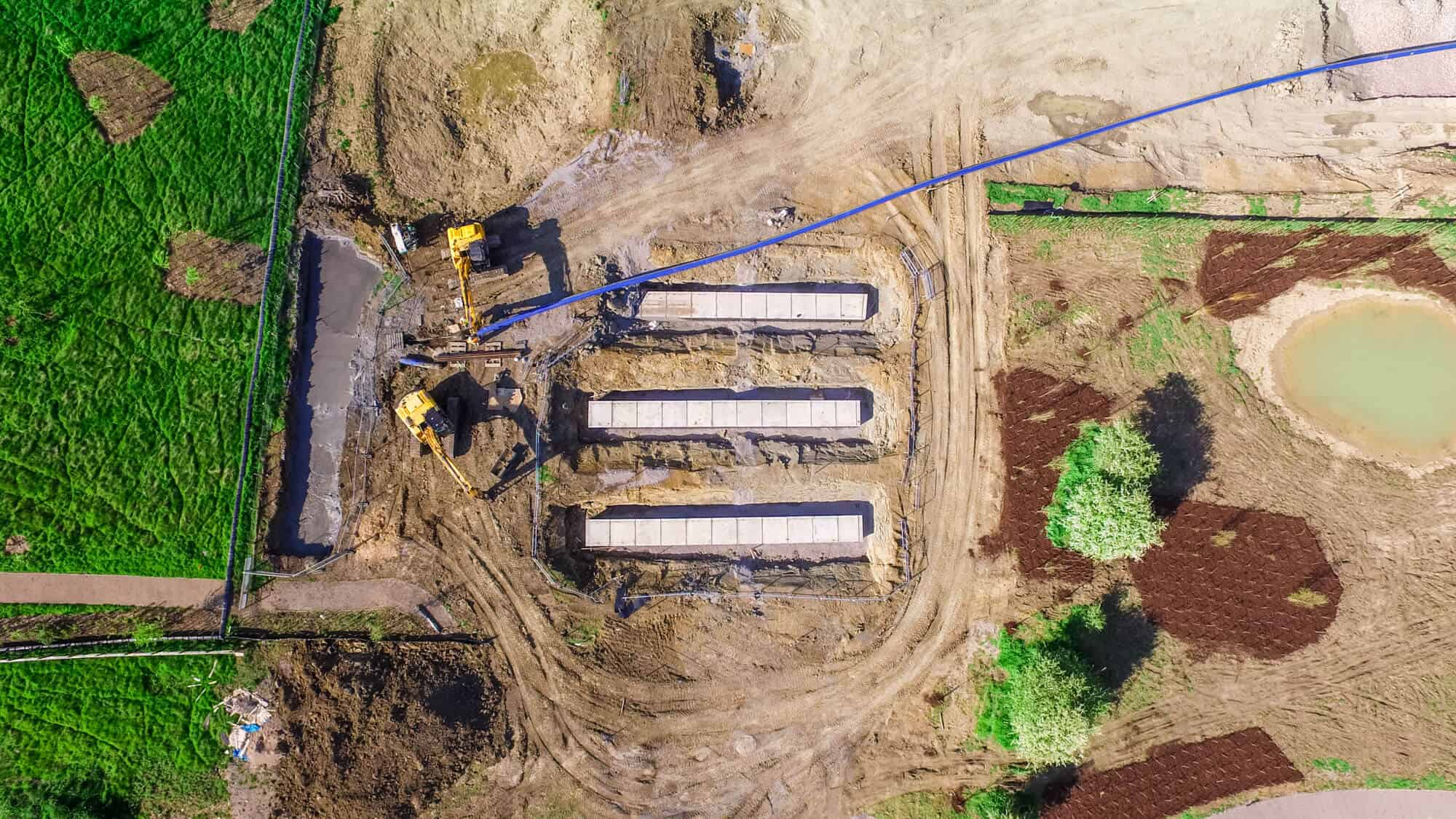 drone surveys of construction site