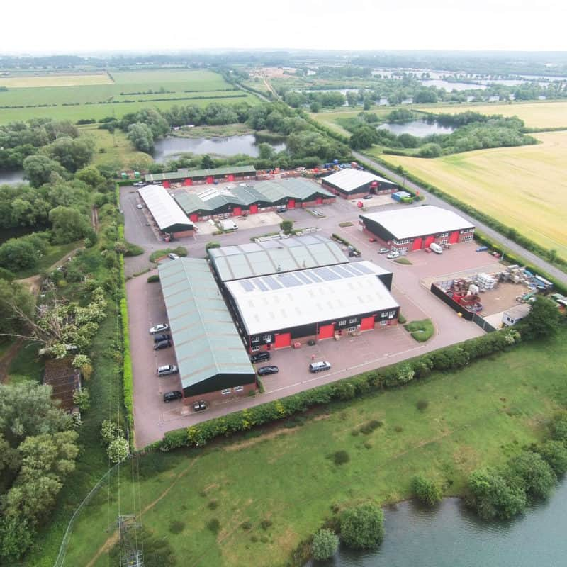king street industrial estate aerial photography