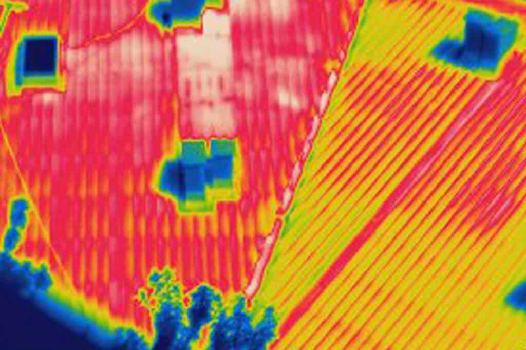 Drones with onboard thermal imaging survey capability