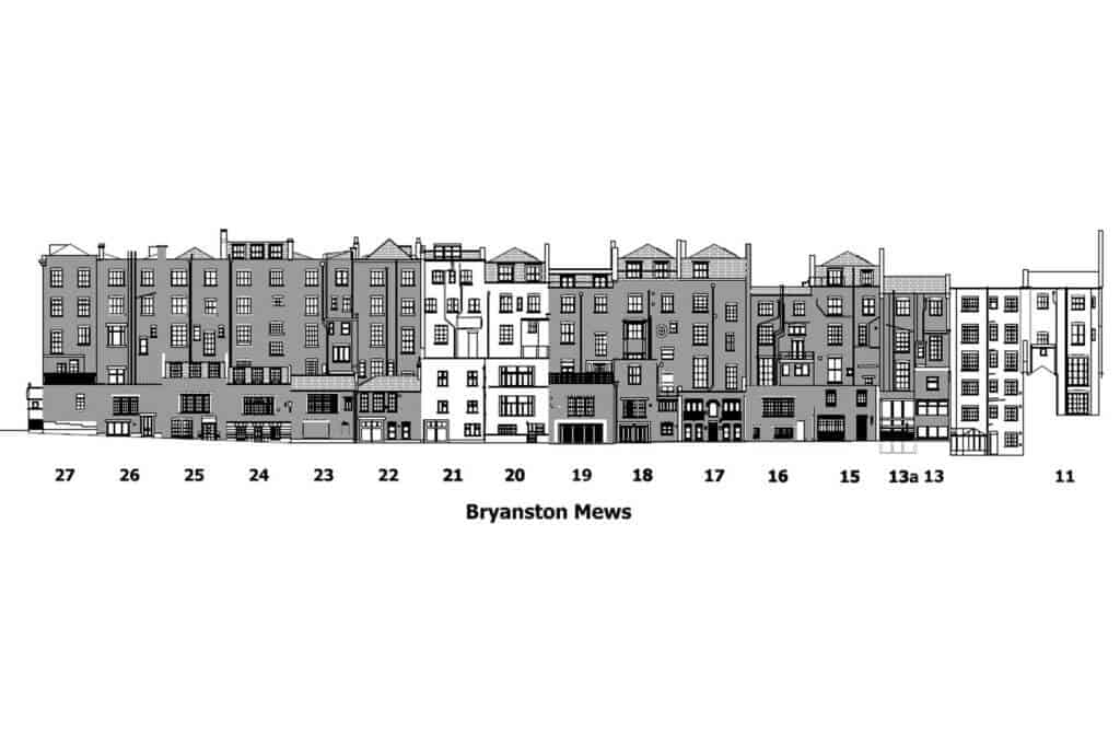 Example of format of data and information produced after measured building surveys