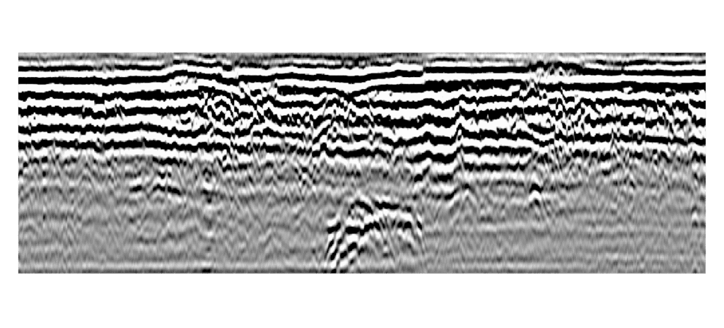 Radio waves using GPR