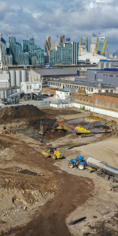 Construction site images in London