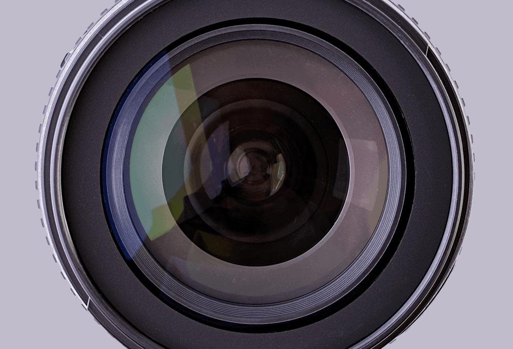 close up of lens for telecoms site surveys