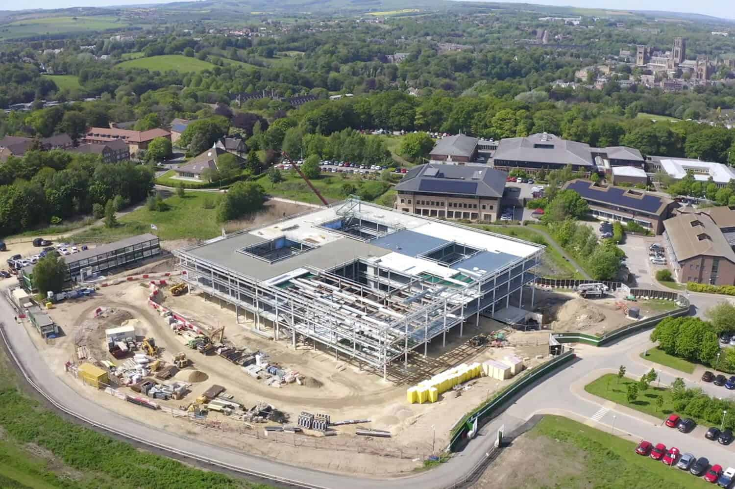 drone filming durham university
