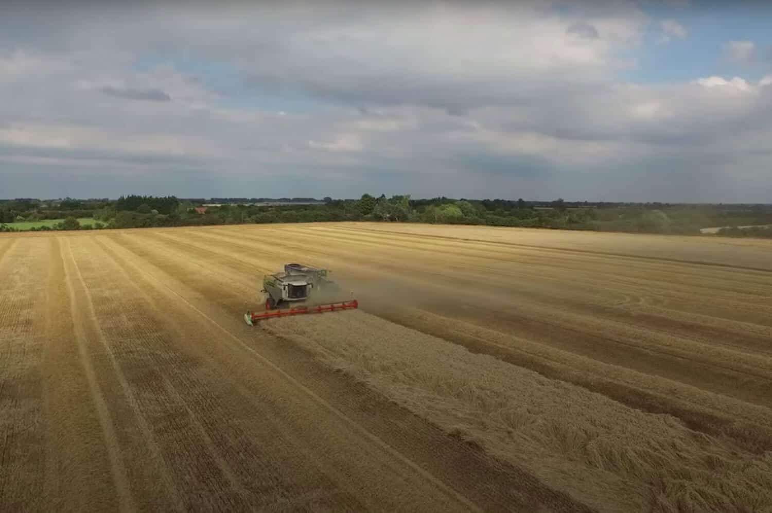 agricultural drone filming